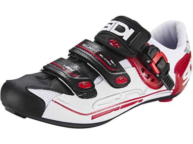 Sidi Genius 7 Chaussures Homme, white/black/red